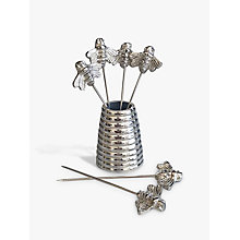 Buy Culinary Concepts Bee Olive Picks and Holder, Silver Online at johnlewis.com