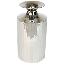 Buy Culinary Concepts Empire Vase, Silver, Small Online at johnlewis.com
