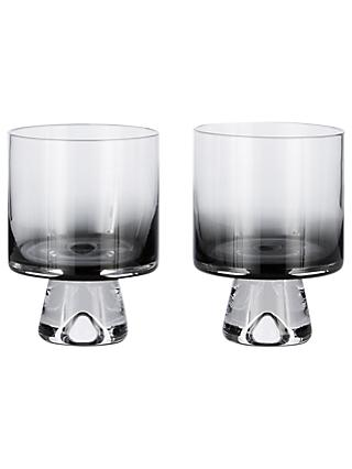 Tom Dixon Tank Low Ball Glasses, Set of 2, Black