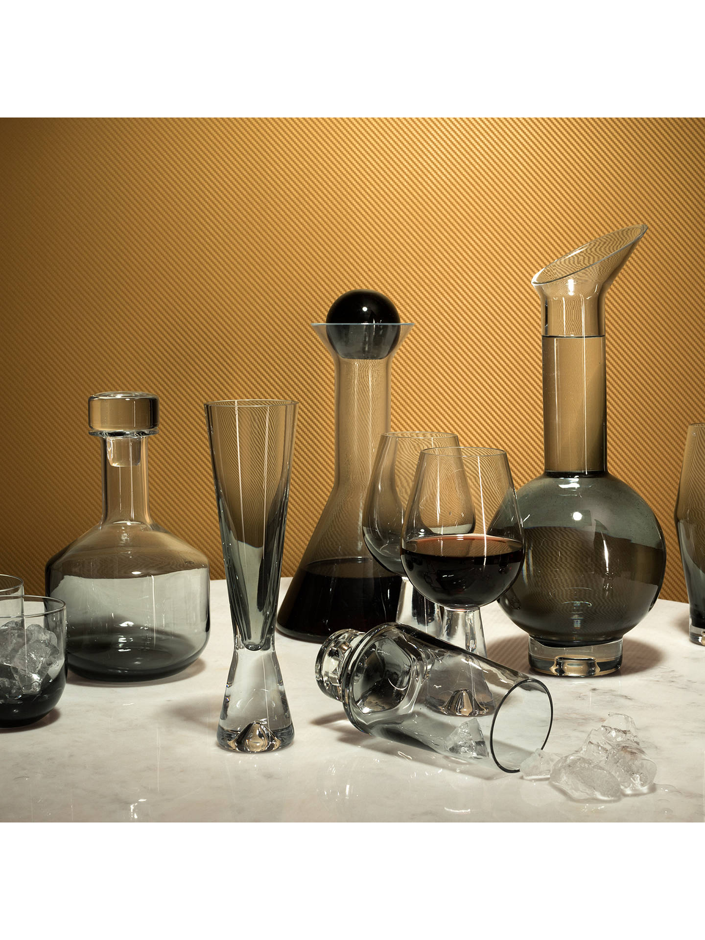 Buy Tom Dixon Tank Whiskey Decanter, Black Online at johnlewis.com