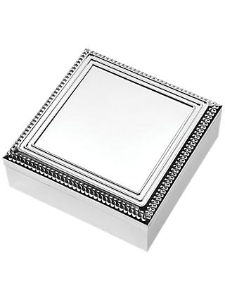 Vera Wang for Wedgwood With Love Square Keepsake Box, Silver