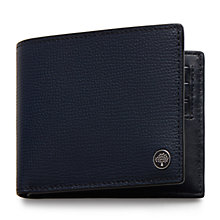Buy Mulberry Eight Card Cross Grain Leather Wallet, Navy Online at johnlewis.com