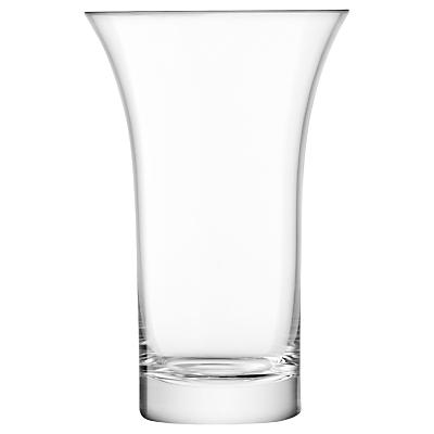 LSA International Flower Flared Vase, Clear, 22cm