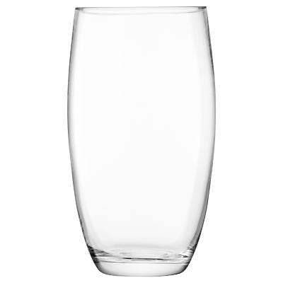 LSA International Flower Barrel Vase, Clear, 29cm