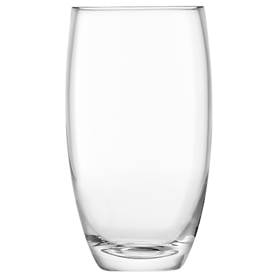LSA International Flower Barrel Vase, Clear, 20cm