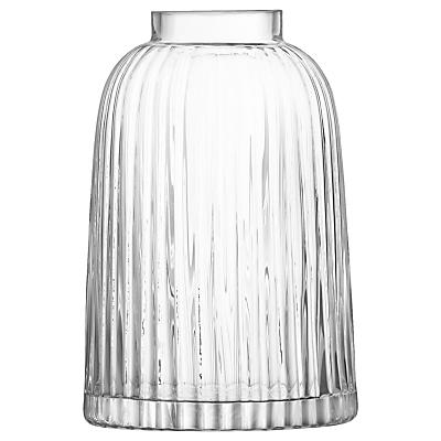 LSA International Pleat Vase, Clear, H20cm