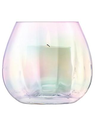 LSA International Pearl Optic Lantern/Vase, H13cm