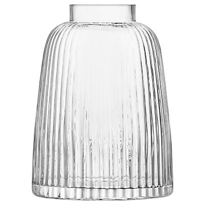 LSA International Pleat Vase, Clear, H26cm