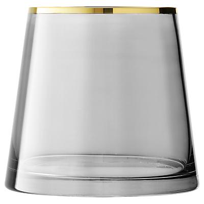 LSA International Sorbet Vase or Lantern, Licorice, 16cm