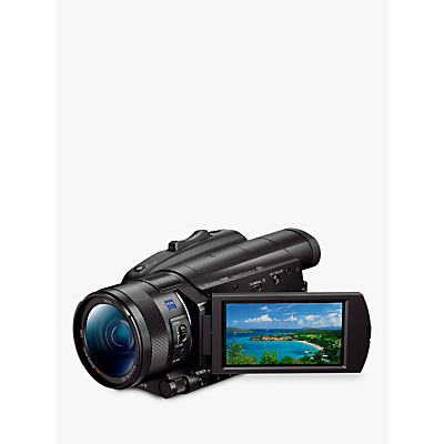 Sony FDR-AX700 Handycam with 4K Ultra HD, HDR, Optical SteadyShot, 14.2MP, 12x Optical Zoom, NFC, Wi-Fi, 3.5 LCD Touch Screen, Black