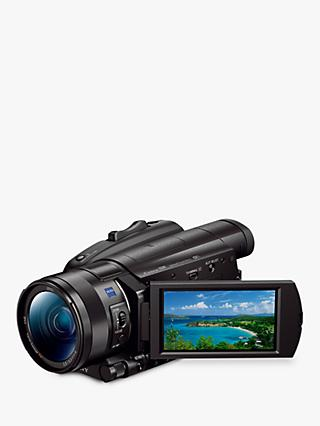 "Sony FDR-AX700 Handycam with 4K Ultra HD, HDR, Optical SteadyShot, 14.2MP, 12x Optical Zoom, NFC, Wi-Fi, 3.5"" LCD Touch Screen, Black"