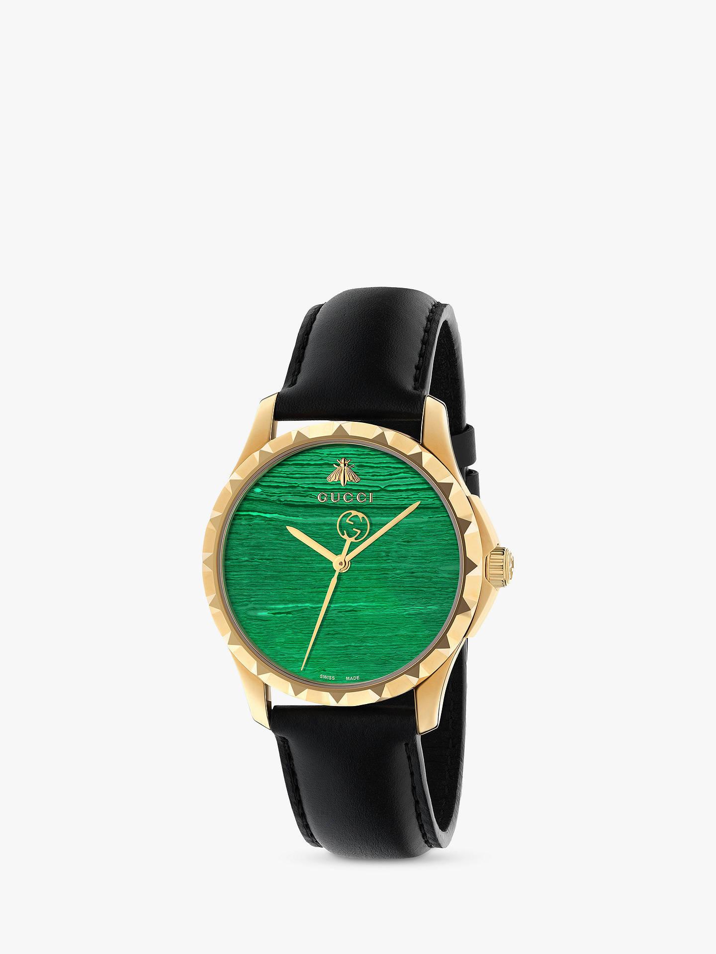 9be1c6b0f8f Gucci YA126463 Unisex Le Marché des Merveilles Leather Strap Watch ...