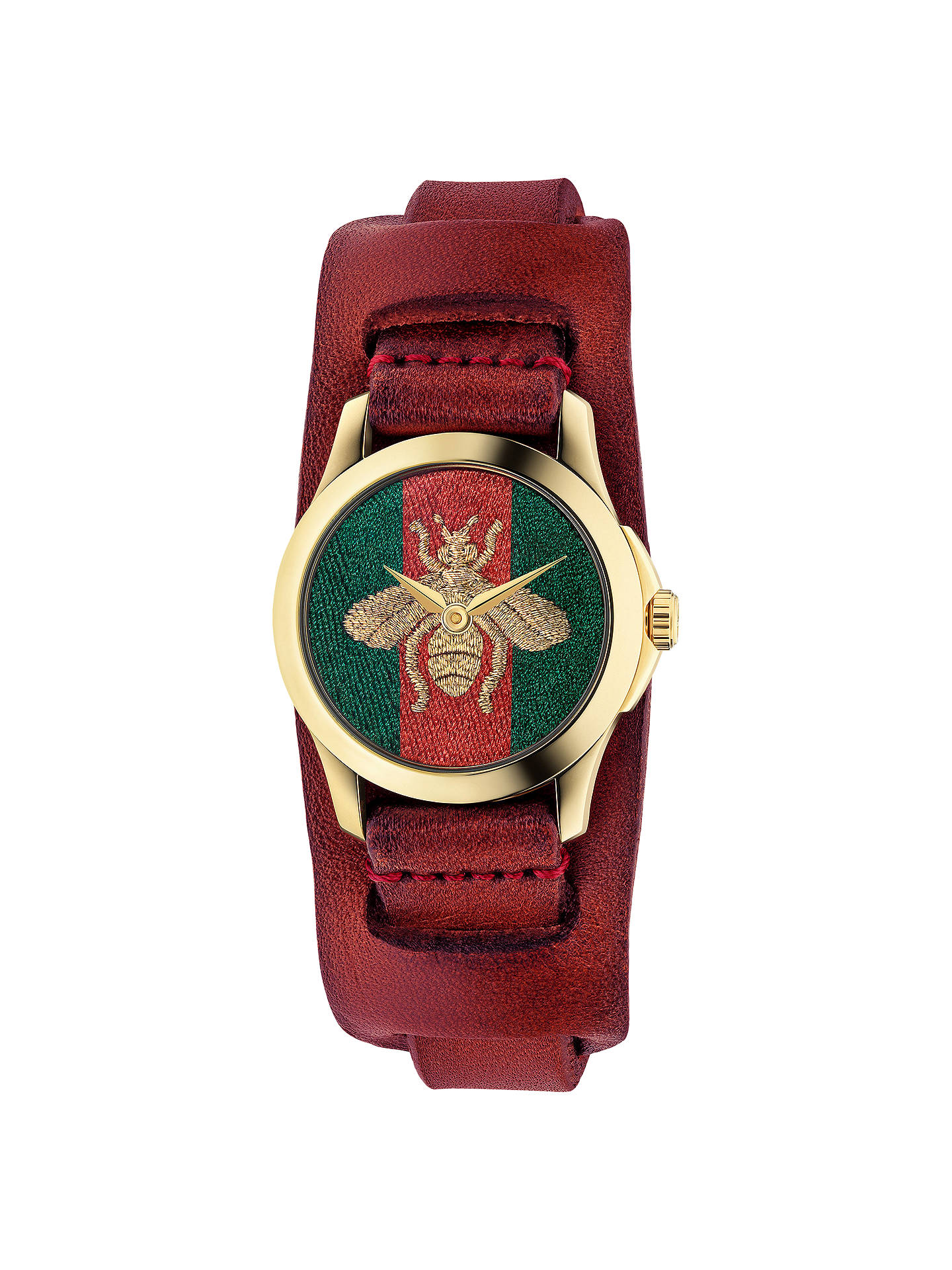 4257f0ebe Buy Gucci YA126546 Women's Le Marché Des Merveilles Leather Strap Watch,  Red/Multi Online ...