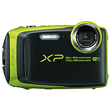 "Buy Fujifilm XP120 Waterproof, Freezeproof, Shockproof, Dustproof Digital Compact Camera with 5-25mm OIS Lens, 1080p Full HD, 16.4MP, 5x Optical Zoom, Wi-Fi, 3"" LCD Screen Online at johnlewis.com"