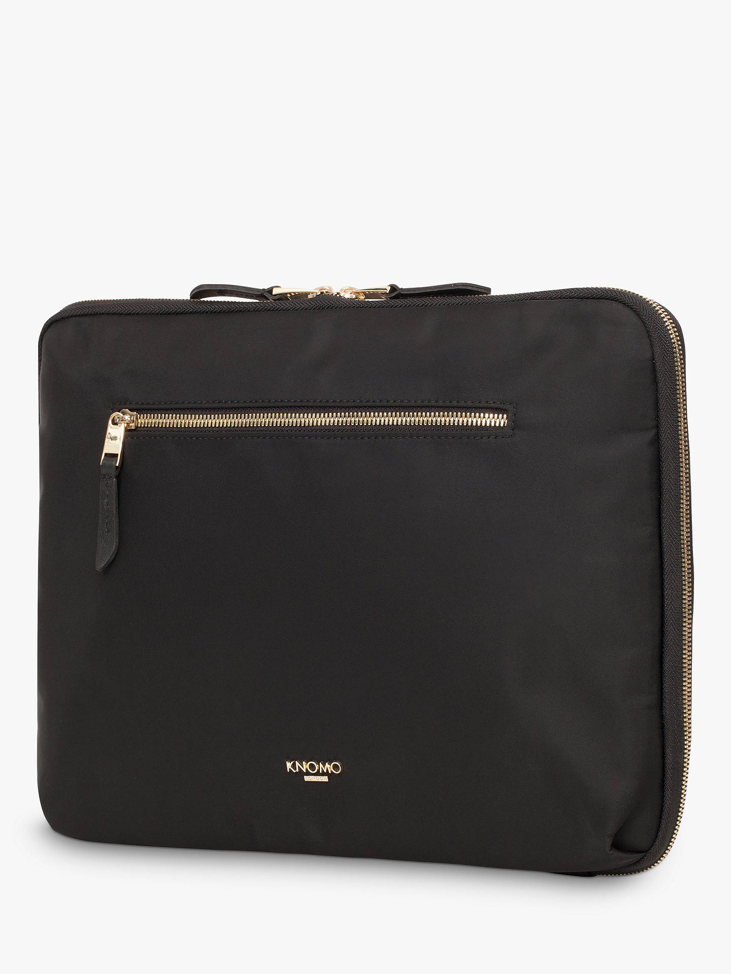 "BuyKnomo Mayfair Knomad Water-Resistant Tech Organiser/Case for Tablets up to 10.5"", Black Online at johnlewis.com"