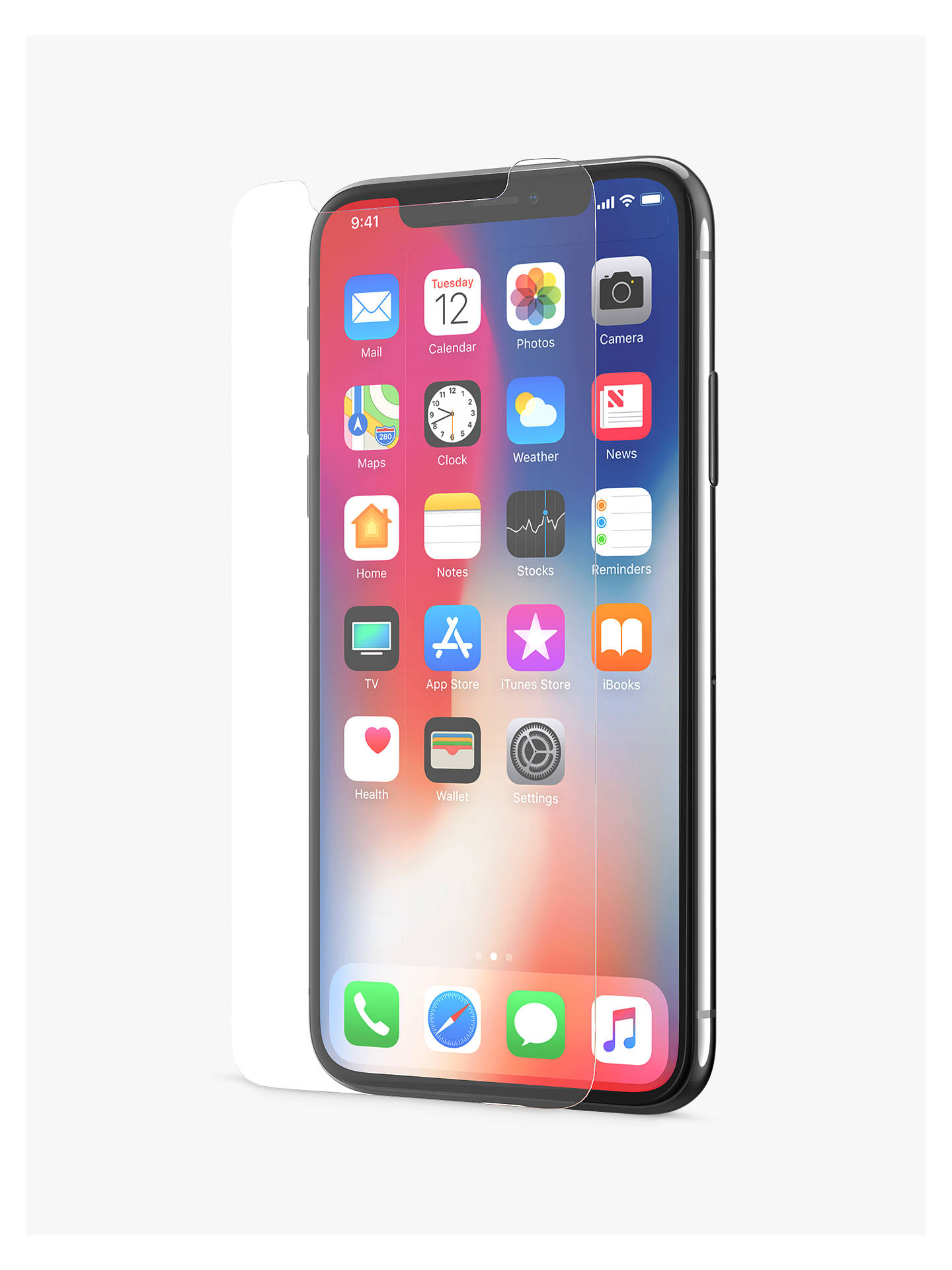 huge selection of 927f0 23dce tech21 Impact Shield Self Heal Screen Protection for iPhone X, Clear