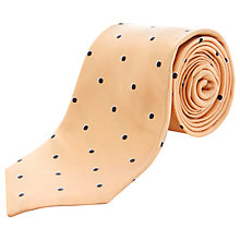 Buy Jaeger Woven Dot Silk Tie, Gold Online at johnlewis.com