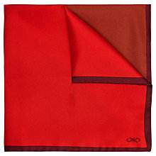 Buy Jaeger Colour Contrast Silk Pocket Square Online at johnlewis.com