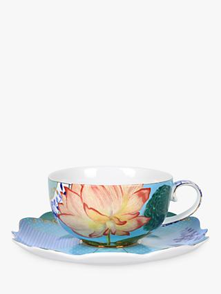 PiP Studio Royal Pip Floral Cup and Saucer, Multi, 225ml