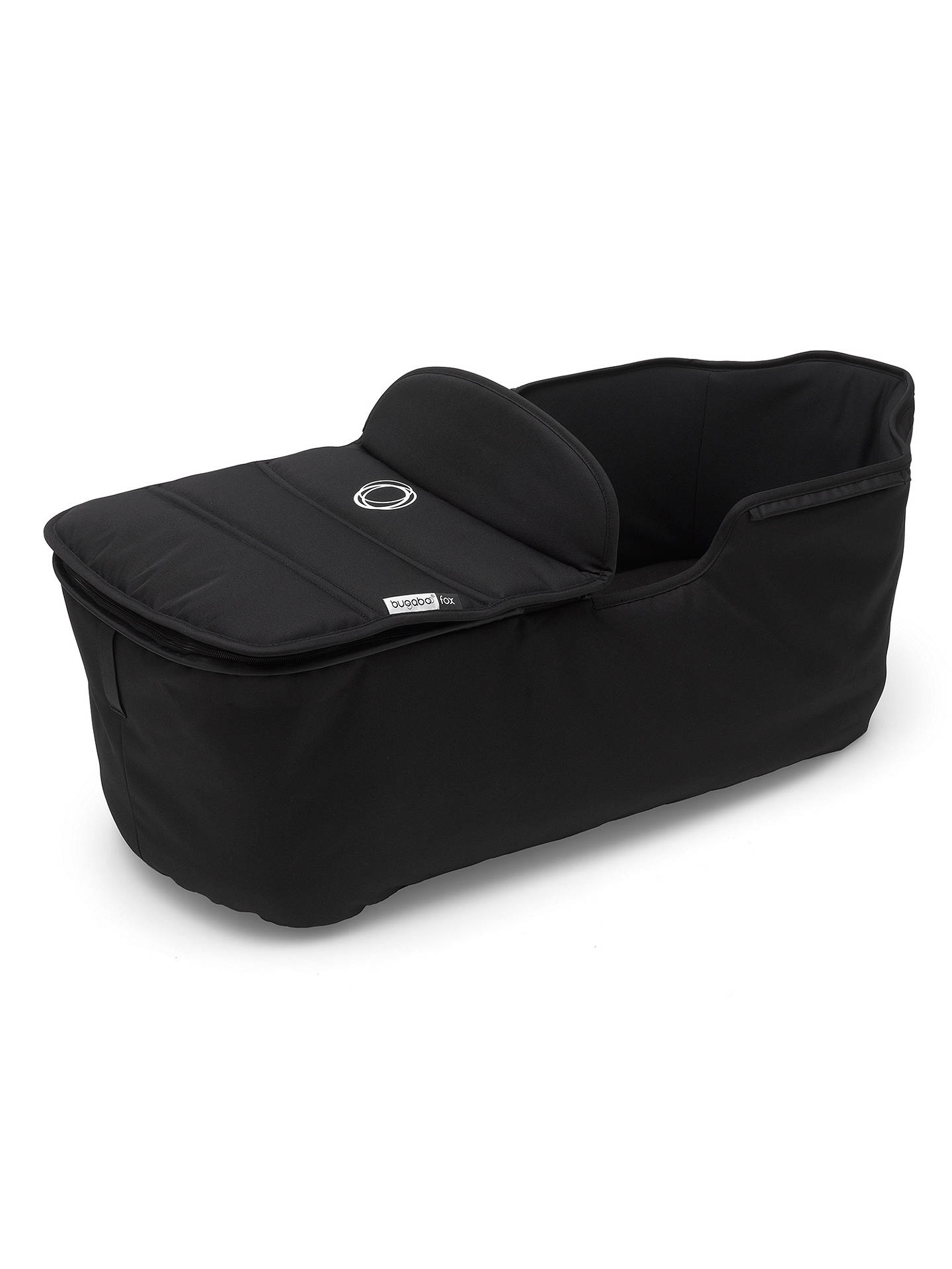 BuyBugaboo Fox Complete Pushchair and Carrycot, Black with Black Fabric and Sun Canopy Online at johnlewis.com
