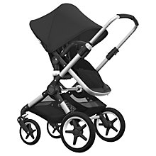 Buy Bugaboo Fox Complete Pushchair and Carrycot, Aluminium with Black Fabric and Sun Canopy Online at johnlewis.com