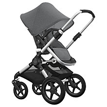 Buy Bugaboo Fox Complete Pushchair and Carrycot, Aluminium with Grey Melange Fabric and Sun Canopy Online at johnlewis.com