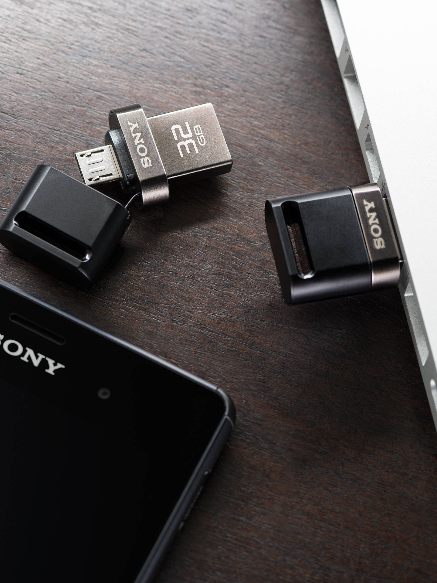 Buy Sony Portable USB Flash Storage Drive, Black, 32GB Online at johnlewis.com
