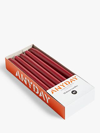 ANYDAY John Lewis & Partners Tapered Dinner Candles, Pack of 10