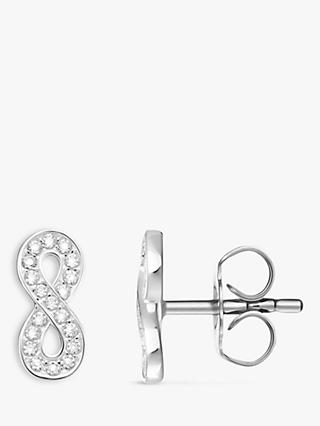 THOMAS SABO Glam & Soul Cubic Zirconia Infinity Stud Earrings, Silver