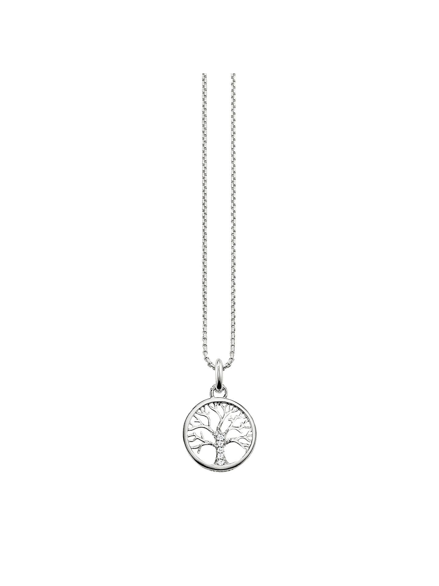 BuyTHOMAS SABO Glam & Soul Filigree Tree Pendant Necklace, Silver Online at johnlewis.com