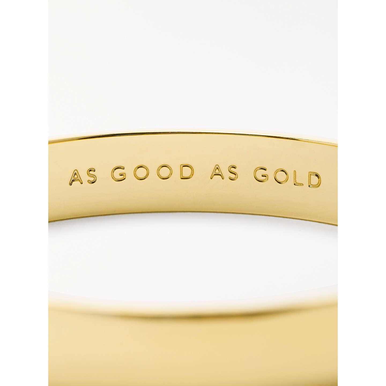 Kate Spade New York As Good Gold Bangle