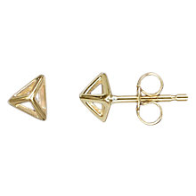 Buy Nina Breddal 9ct Yellow Gold Pyramid Stud Earrings, Yellow Gold Online at johnlewis.com