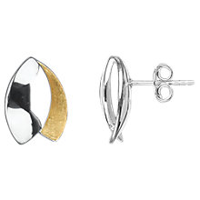Buy Nina B Silver and Gold Stud Earrings, Multi Online at johnlewis.com
