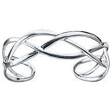 Buy Nina Breddal Sterling Silver Cuff Bangle, Silver Online at johnlewis.com