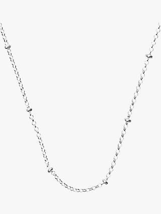 Nina B Silver Chain Beaded Necklace, Silver