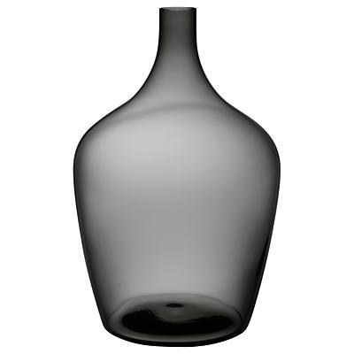 Nude Glass Dame Jeanne Demijohn Glass Vase, Extra Large, Smoke