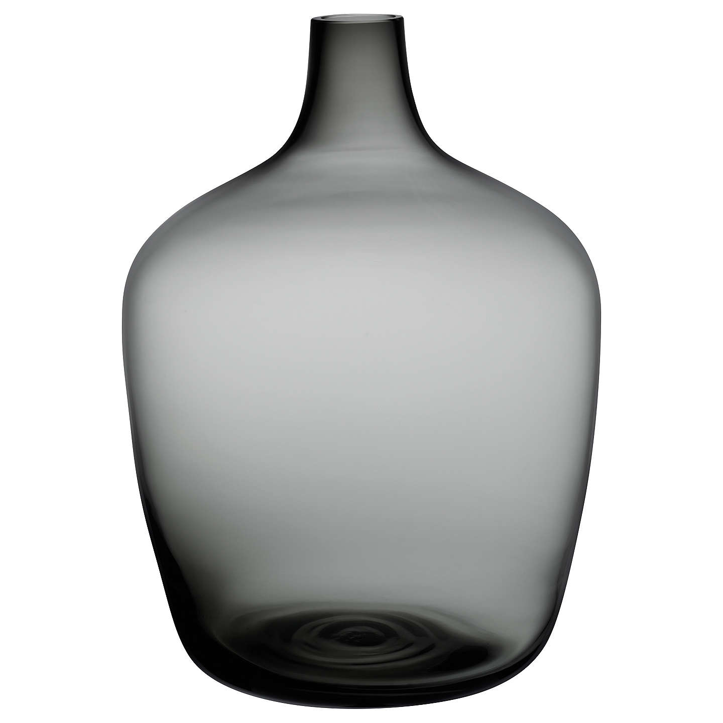 Nude Glass Dame Jeanne Demijohn Glass Vase, Large, Smoke at John Lewis
