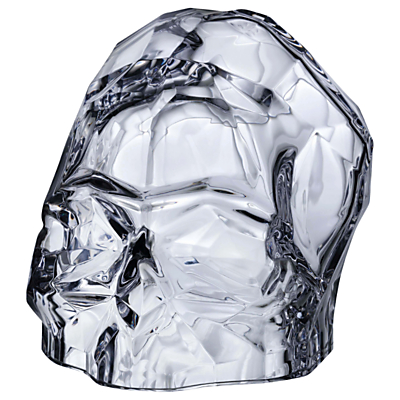 Image of Nude Glass Memento Mori Skull, Clear