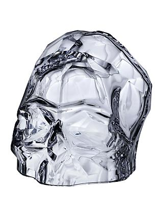 Nude Glass Memento Mori Skull, Clear