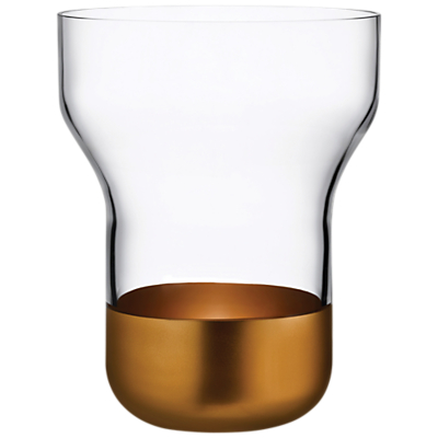 Nude Glass Contour Crystal Vase, Wide
