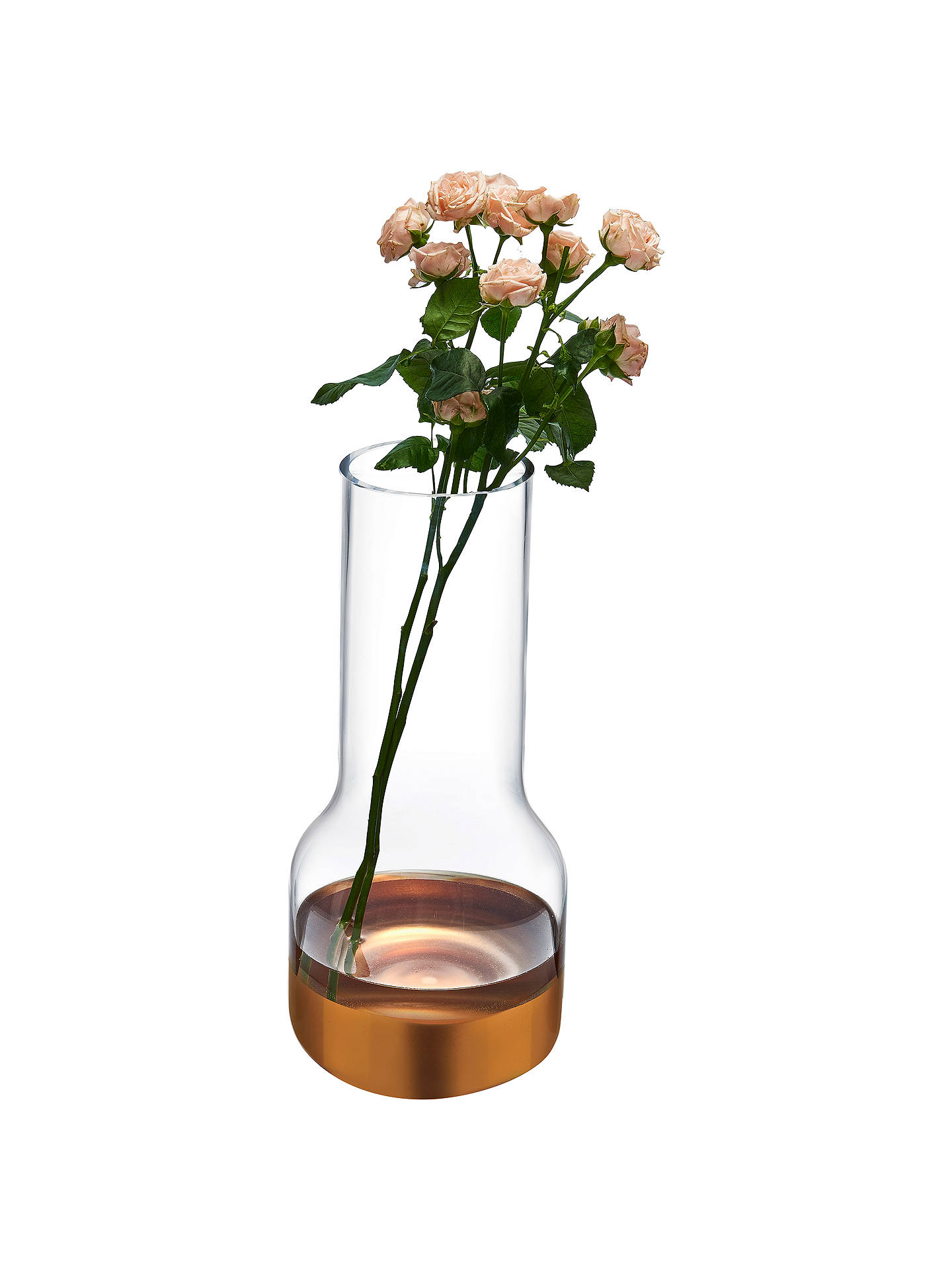 BuyNude Glass Contour Crystal Vase, Narrow Online at johnlewis.com