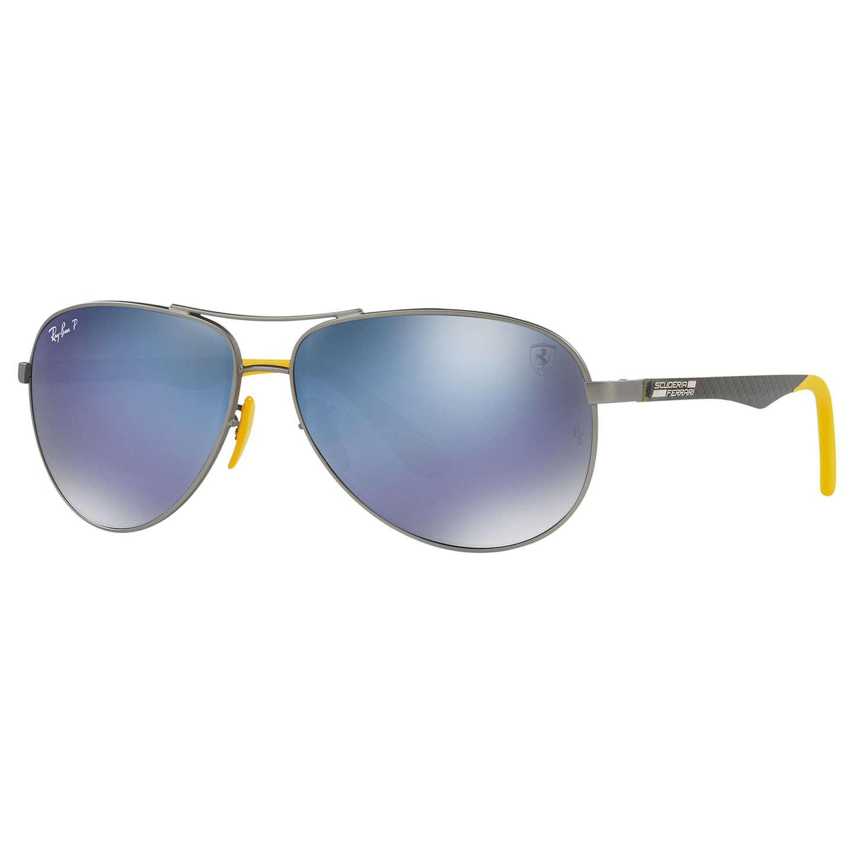 Ray-Ban RB8313M Polarised Scuderia Ferrari Aviator Sunglasses at ...