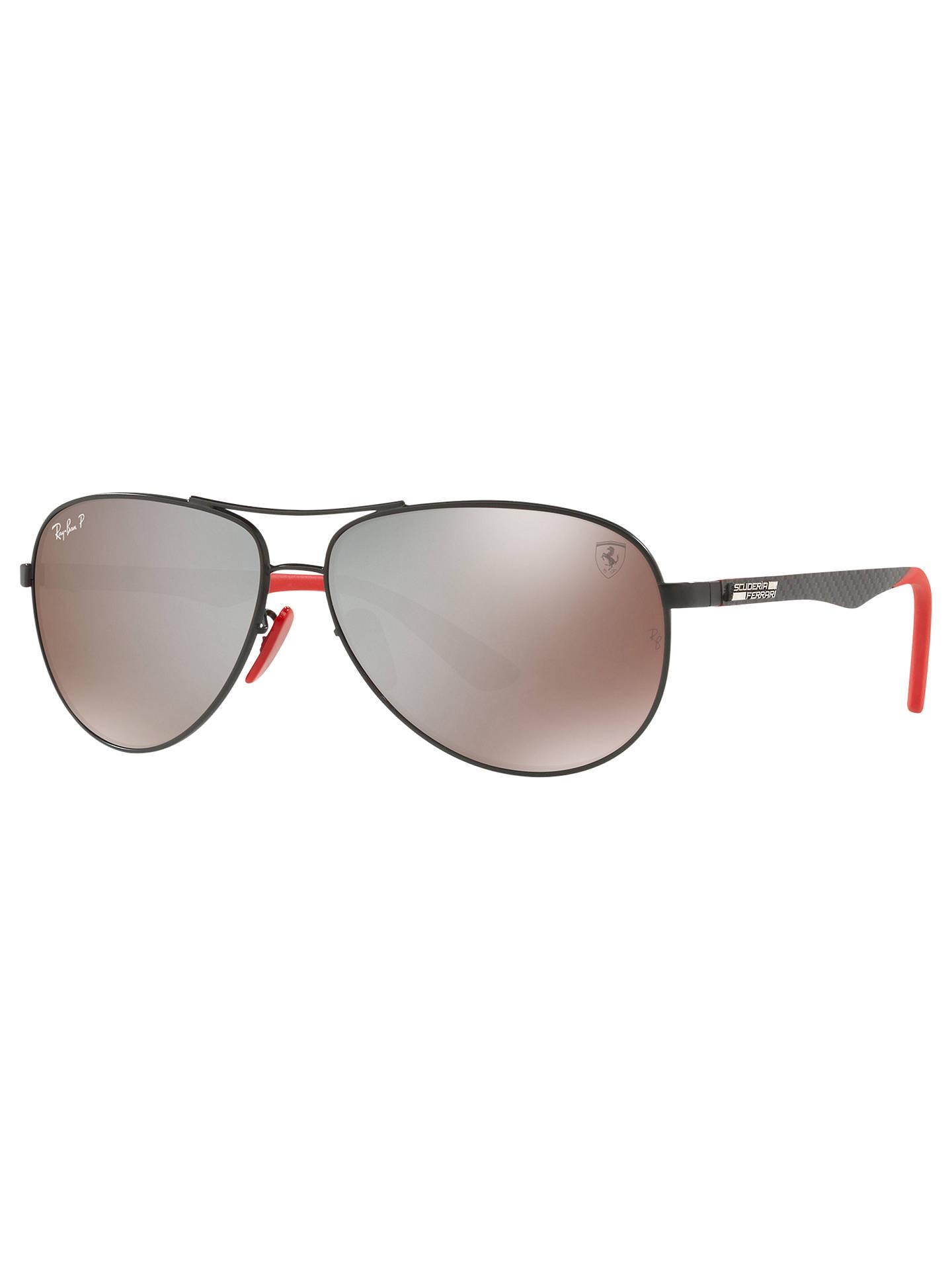8d061eb75646 Ray-Ban RB8313M Polarised Scuderia Ferrari Aviator Sunglasses at ...