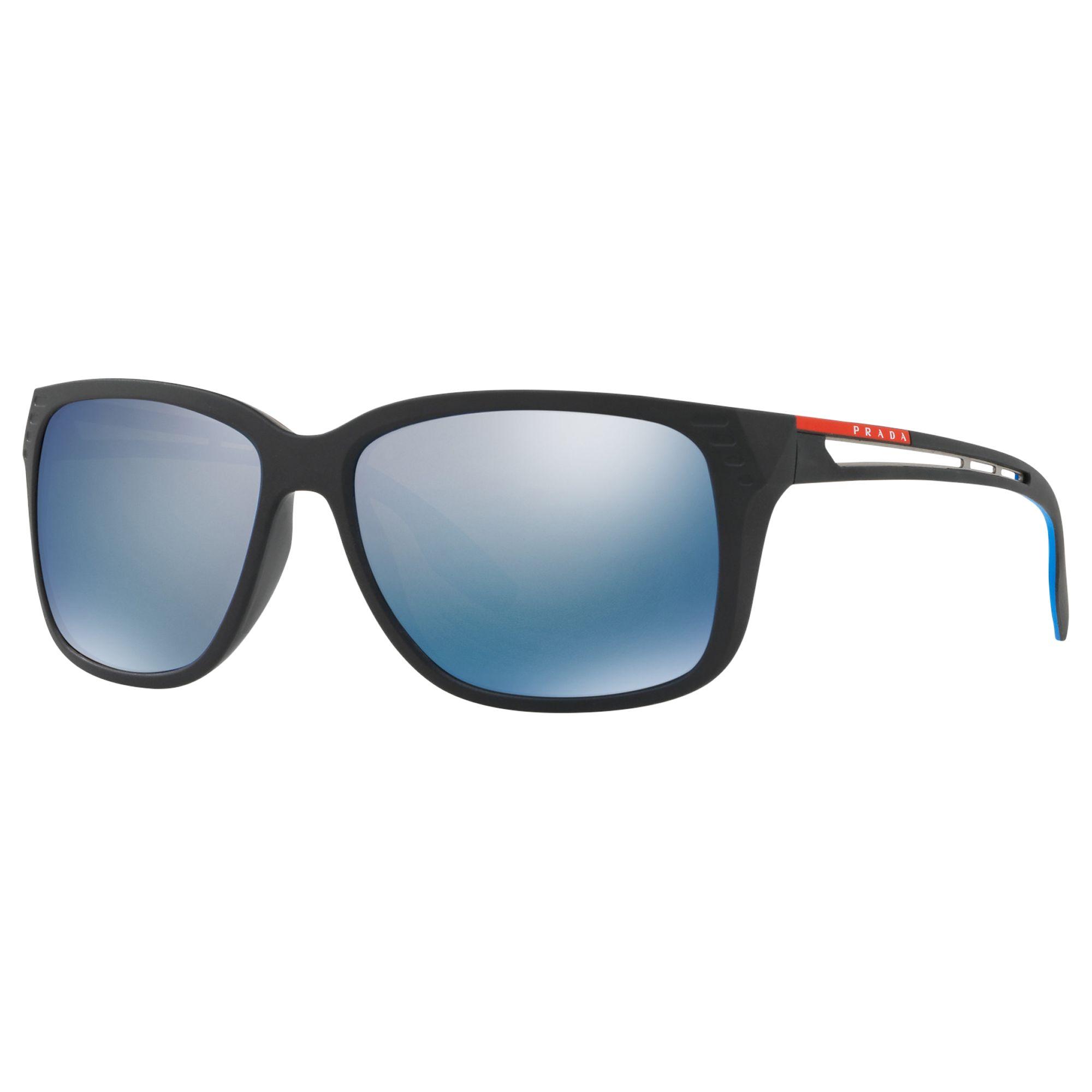 d2b19027440c Prada Linea Rossa PS 03TS Men s Polarised Rectangular Sunglasses at John  Lewis   Partners