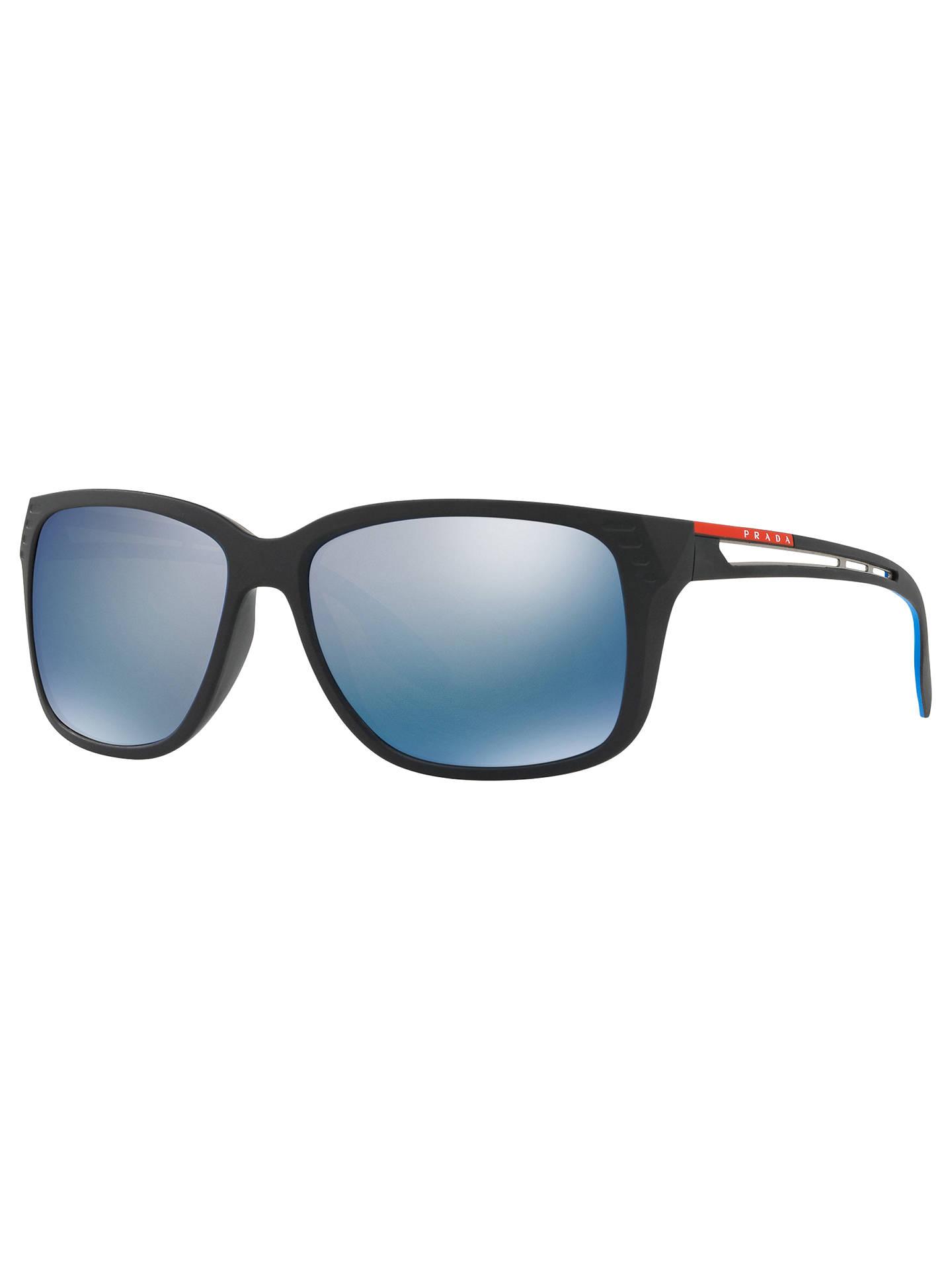 df47d09aa8c Prada Linea Rossa PS 03TS Men s Polarised Rectangular Sunglasses at ...