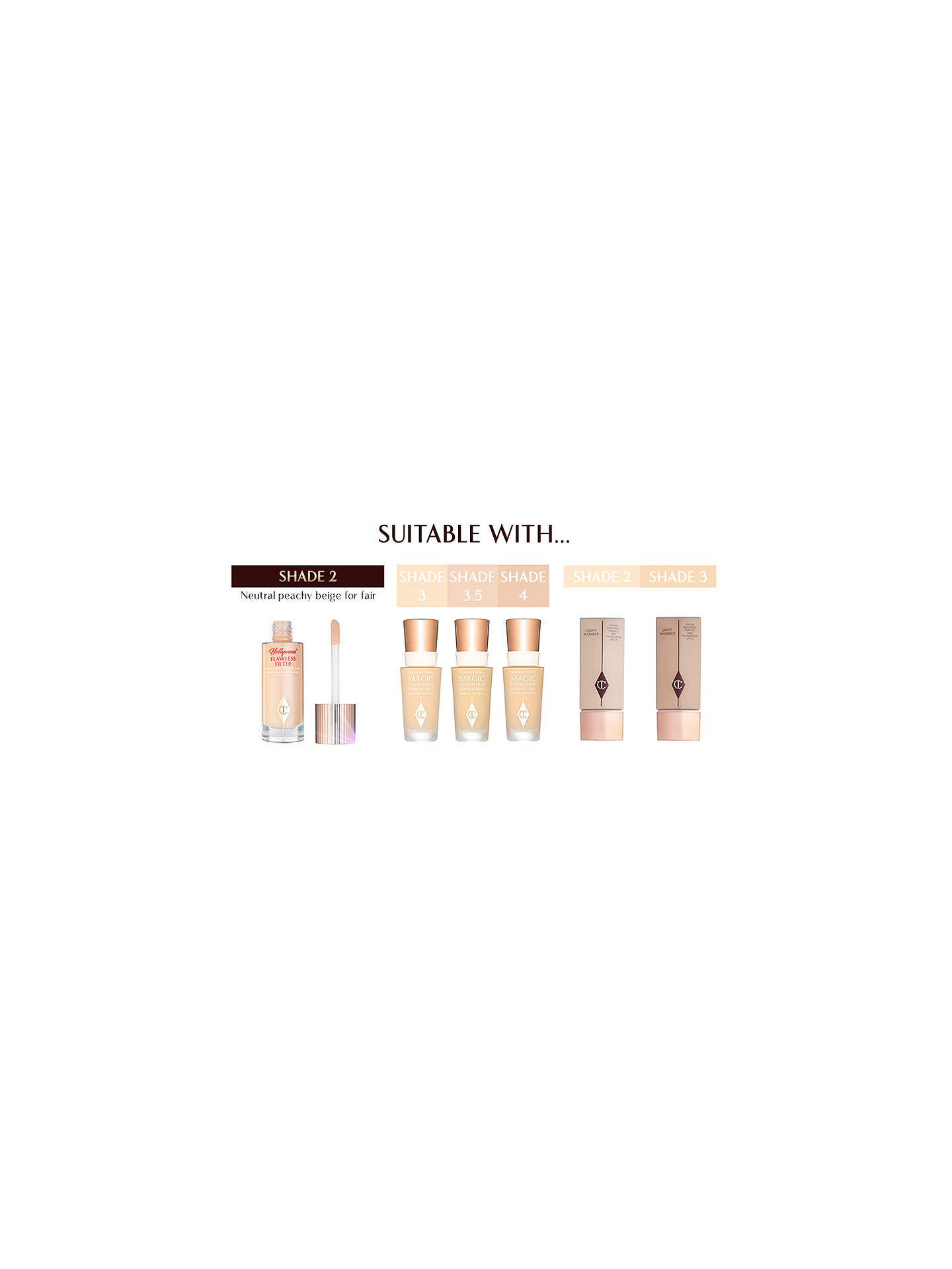 Buy Charlotte Tilbury Hollywood Flawless Filter, 2 Light Online at johnlewis.com