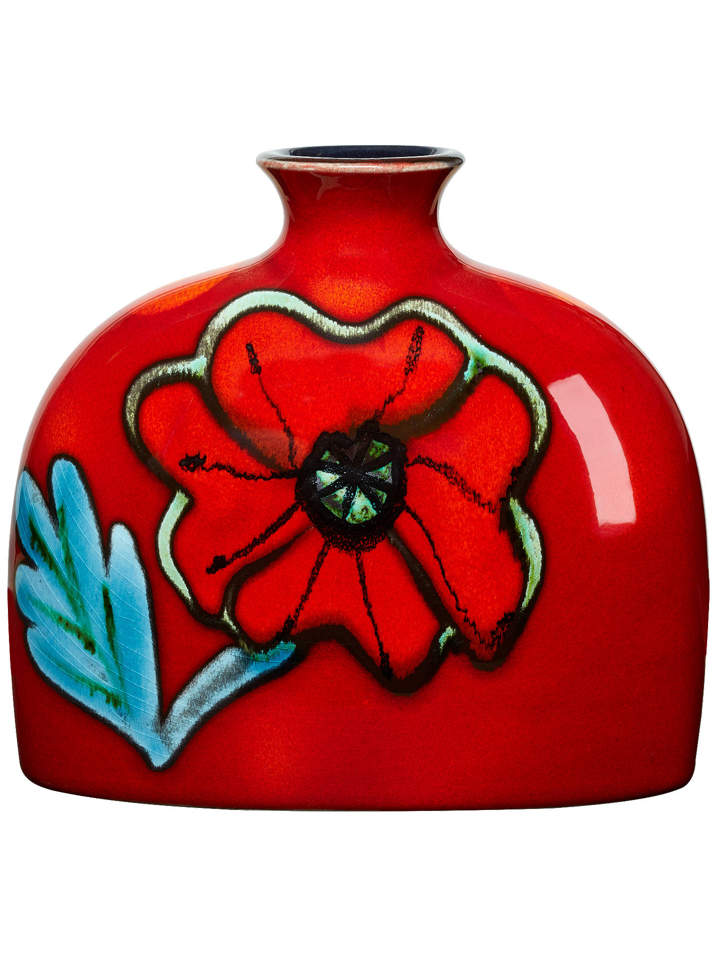 BuyPoole Pottery Poppyfield Bottle Vase, Small Online at johnlewis.com