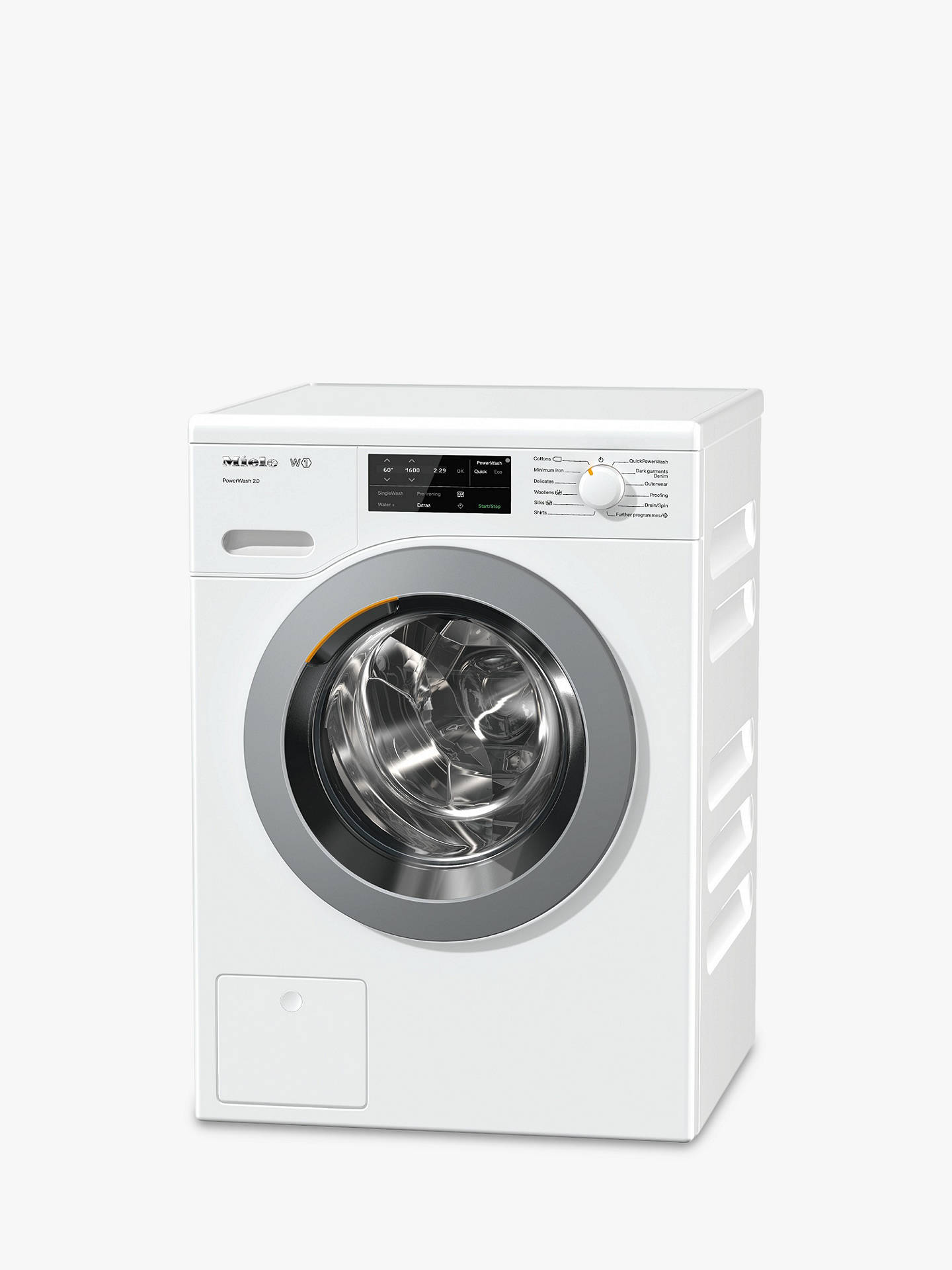 BuyMiele WCE320 Quick PowerWash Freestanding Washing Machine, 8kg Load, A+++ Energy Rating, 1400rpm Spin, White Online at johnlewis.com