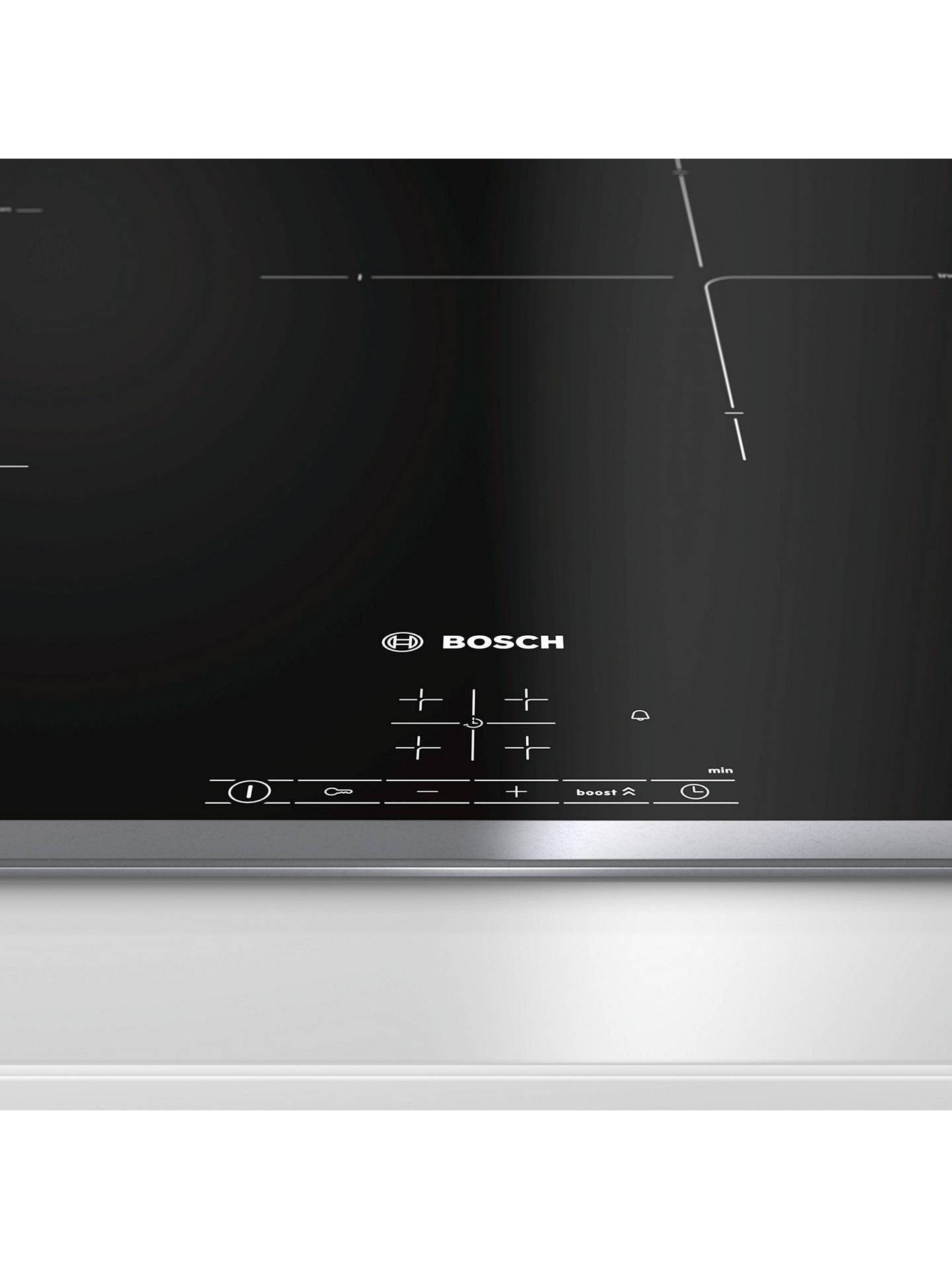 BuyBosch PIE845BB1E Induction Hob, Black Online at johnlewis.com