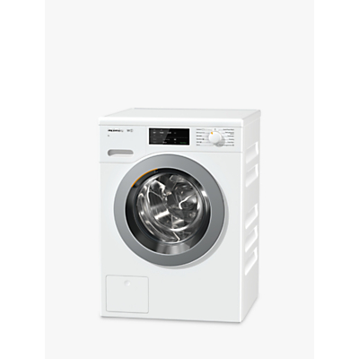 Image of Miele WCG120 XL Freestanding Washing Machine, 9kg Load, A+++ Energy Rating, 1600rpm Spin, White